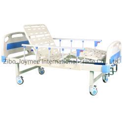 의료용 2 기능 수동 병원 이중 크랭크가 있는 환자 침대