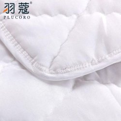 Blanca Inicio Hotel Soft Colchoneta lavable de algodón cómodo