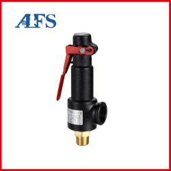 Redução de Pressão/controle/Alívio/Válvula de Segurança Industrial Elevação total conexão rosqueada da Mola da Válvula de segurança selada de latão para Compressor de ar com a alavanca (A28W-16T)