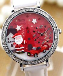 소형 Polymer Clay Watch Diamond Artwork 3D Limited Edition Watch Creation Creativity Happy New Year Merry Christmas Father Gift Reindeer Snow Snowman