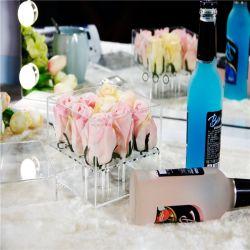 ホーム装飾のアクリルの花の容器のプラスチックローズボックス