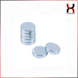China Personalizado permanente de neodímio forte revestimento de zinco durante todo o disco magneto