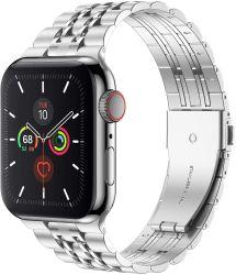 Tira de aço inoxidável para faixa de relógio de maçã 44 mm 40mm Banda Iwatch 42mm/38mm Fivela para cinto Bracelete Metal Apple Assista 5 4 3 21