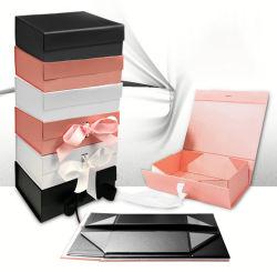 리본 메뉴의 맞춤형 접이식 고급 의류/의류/신발 포장 자기 종자기 종자기 판지 선물 상자