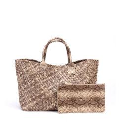 여자 어깨에 매는 가방 최신유행 호화스러운 핸드백 중국 공장에 의하여 길쌈되는 핸드백을%s Tote Handbag 2020 가을 형식 숙녀