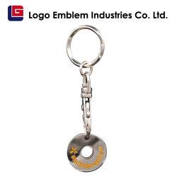 Hermosa la impresión de logotipo personalizado promocional Llavero de metal