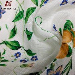 Desperdícios de seda de cânhamo 11,5 M 140cm tecido roupas de seda composto de licra catiônica confinado roupas femininas a impressão de tecido para personalizar o tecido
