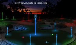 方法夜はスペクトルの大きさを7つのカラーLEDゴルフ・ボール遊ばす