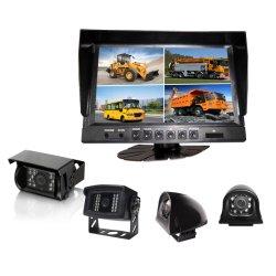 9 Polegadas derramados digital LCD TFT Quad Carro Vista Traseira do Monitor de ecrã a cores