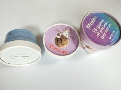 Документ 8 унции Kraft и печати логотип в 120ml 500 мл Custom мороженое с крышкой