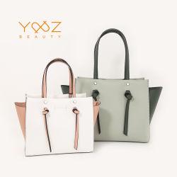 OEM の方法新しい設計本物の革レディースハンドバッグの袋 女性のためのメスのショルダーバッグのハンドバッグセット