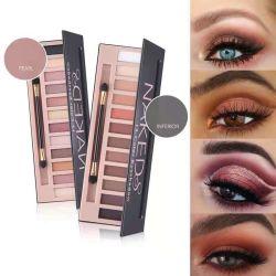 12 kleuren Groothandel sterk gepigmenteerd Waterproof natuurlijke glitter Eyeshadow Palette Cosmetische make-up oogschaduw