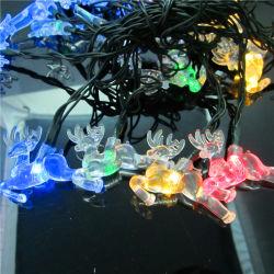 Рождество солнечной энергии света оленей String фонари
