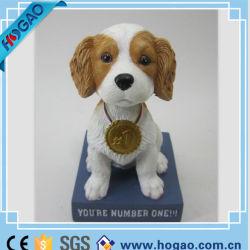 Ткань из чесаного Polyresin собака Nodding встряхивания собака головки блока цилиндров