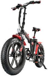 20 pulgadas de longitud de la resistencia eléctrica de la nieve MTB OEM Sepeda ciclomotor eléctrico Listrik bicicleta plegable de neumáticos de la grasa de la ciudad de Mountain Bike bicicleta moto de nieve Motor con asiento Comfort