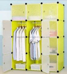 غرفة معيشة بيع خزانة ملابس، خزانة بلاستيكية مع ملابس، عمود لهجر، دواليب ملابس ذات لوحة PP قابلة للطي من النوع PP، غرف نوم قابلة للطي من النوع (EP-01)