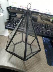 Pirámide de geométricas terrario vela titular de la luz de Té planta jarrón
