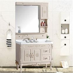 Banho de PVC moderno combinado vaidade montado no chão com espelho