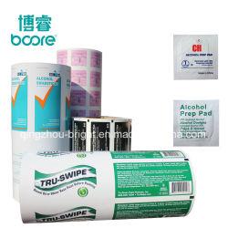 Coton-tige d'iode en médecine de l'iode Pads papier d'emballage+housse laminé en aluminium