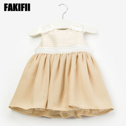 OEM / ODM Manufactring Vêtement tissé bébé fille fête de mariage de l'usure