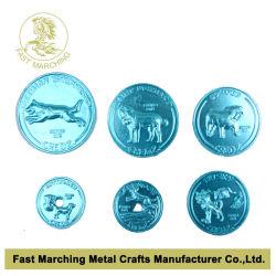 Anodisierte Aluminiummünze, heiße Verkaufs-Zeichen
