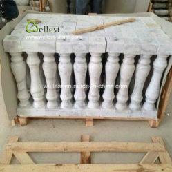 현관을%s 백색 대리석 난간의, 대리석 계단, 대리석 Baluster 또는 층계 또는 발코니 또는 정문 또는 입구