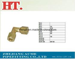 Alta qualidade de latão americana Comp europeia com a porca de montagem do conector de cotovelo