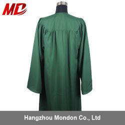 Diplôme du secondaire robe de tissu vert foncé mat