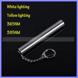 Keychain Slim Mini 365nm紫外線LED Flashlight Ultraviolet Lamp Torch Blacklight Yellow White Light (1218年)