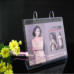 Оптовая торговля акрилового пластика настольного календаря подставка