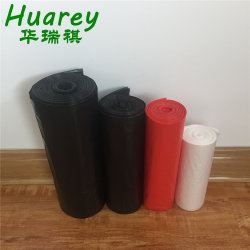 HDPE/LDPE Plastikschwarzes kann Zwischenlage-Abfall-Abfall-Beutel auf Rolle