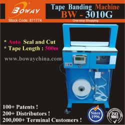 Bunte Box Karten Circuit Board Währung Banknote OPP Film Tape Automatische Bandering Umreifungsband Binding Machine