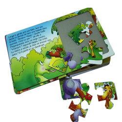 Il libro divertente di vendita caldo della scheda di attività dei bambini con il puzzle imbarazza il servizio di stampa professionale del libro del cartone