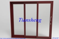 Qualität Customized Two Tracks oder Three Track Aluminum Sliding Door mit Double Glazing Aufbauen-in Blind