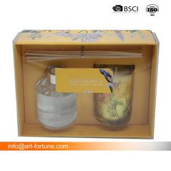 Il diffusore di vetro ed il regalo di vetro profumato della candela hanno impostato per il regalo di promozione