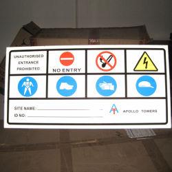 튼튼한 최신 판매 알루미늄 경고 통지 표시 널