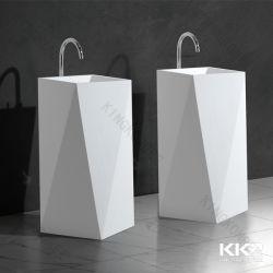 ダイヤモンドの形の現代浴室の洗面器の支えがない洗面器の芸術の流しの石の洗面器の床の流し