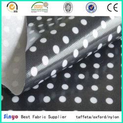 100% poliéster 600d textil tejido de revestimiento de TPU con punto impreso