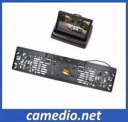"""4.3 """" Foldable車LCD Monitor+EUのナンバープレートの背面図のカメラ"""