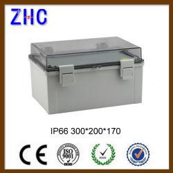 300*200*170 명확한 뚜껑을%s 가진 날씨에 의하여 보호되는 IP66 플라스틱 접속점 상자