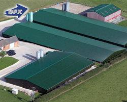 Umweltkontrolle Vorgebautes Geflügelhaus Aus Leichtstahl/Prefab Chicken Farm Building