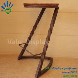 Usine directement fournir chaise en bois massif de barre de siège Base de métal