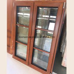 カシ木フランスの開き窓のWindows、傾きの回転Windows、材木のWindows