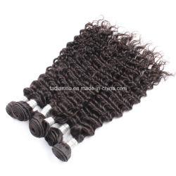 100%の人間の毛髪を編む卸し売りバージンの毛