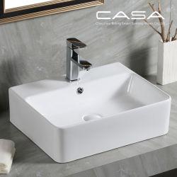 Sanitarios baño lavabo de cerámica rectángulo buque fregadero