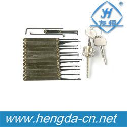 Yh9282 최신 판매는 12 피스 자물쇠 후비는 물건 고정되는 Goso 자물쇠 후비는 물건 고정되는 융기 +Locksmith 공구 투명한 교차하는 중요한 자물쇠를 잠근다