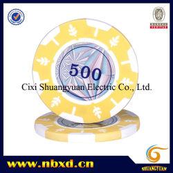 2-Tone Entwurfs-Lehm-Schürhaken-Chip des Blatt-14G mit kundenspezifischen Aufklebern