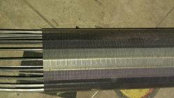 Slot de 0,2mm cunha do orifício do cilindro do fio