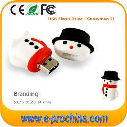 Heißes Verkaufs-Schneemann-Weihnachtsgeschenk USB-Blitz-Laufwerk für freie Probe