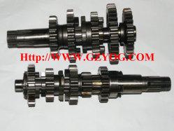 Yogのオートバイの予備品エンジンの本管の反対シャフト完全で主要なスピンドルギヤボックスCg125 FT125/150 Hj125-7